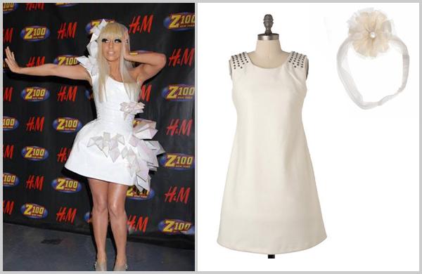 Lady Gaga in White on white