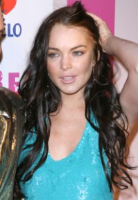 Lindsay Lohan at Perez Hilton's birthday bash