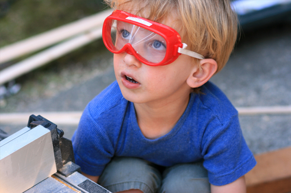 Little Boy with Safety Glasses