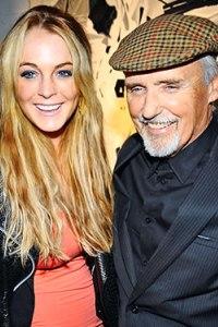 Lindsay Lohan with Dennis Hopper