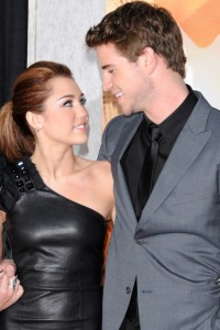 Miley and Liam at The Last Song premiere