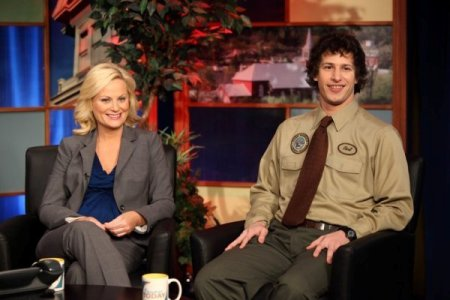 Amy Poheler and Andy Samberg in Parks and Rec