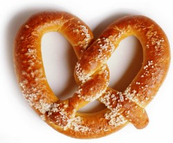 Pretzel with salt