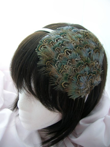 Oasis feathered hair band