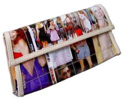 Urthbags Madison Recycled Magazine Clutch from Nancy's Gone Green