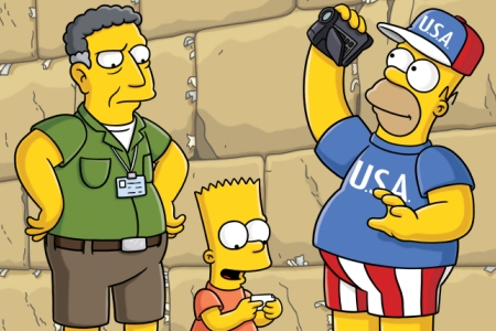 The Simpsons visit Israel