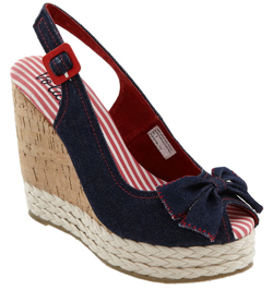 navy wedges