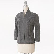 7. Croft & Barrow Cable-Knit Cardigan from Kohl's ($20)