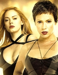Rose McGowen and Alyssa Milano in Charmed