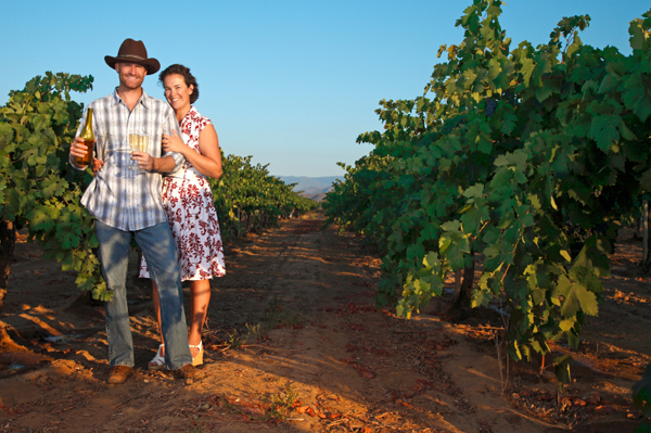 Couple in Winery