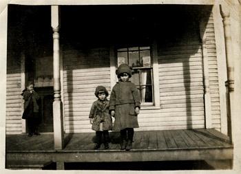 Girls on a porch - 1918