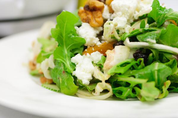 Goat Cheese Salad with Arugula and Radicchio