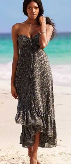 Halter Maxi Dress - Black Floral Multicolor