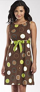 Jessica Howard Sundress w/Ribbon - Brown Multi Dot