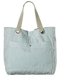 7. Mossimo Supply Co. Stripe Tote Handbag - Blue