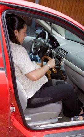 pregnant woman car