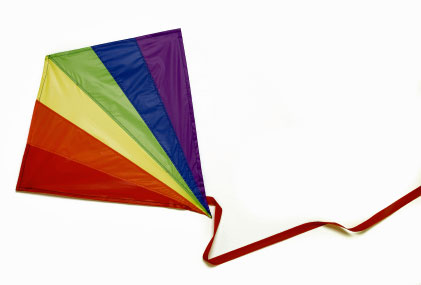 rainbow kite