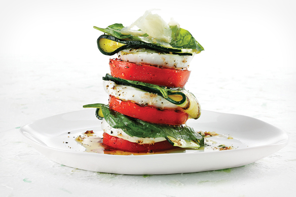 Roasted Tomato & Zucchini Salad