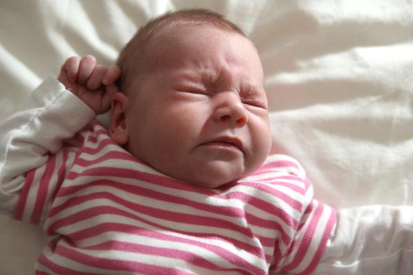 Sneezing baby girl