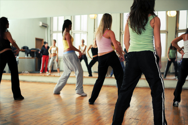 Women in dance class