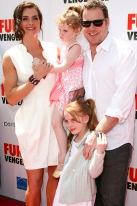 Brooke Shields and her family