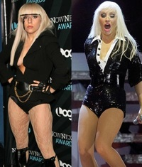 Lady Gaga and Christina Aguilera