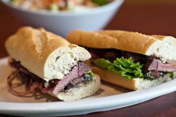Grilled steak sanwich