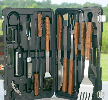 Heritage 10-piece professional BBQ tools set