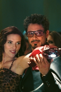 Iron Man 2 stars Scarlett Johansson and Robert Downey Jr