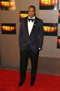 Jay-Z at the Fela! premiere