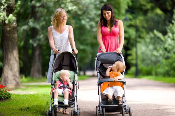 Moms with strollers