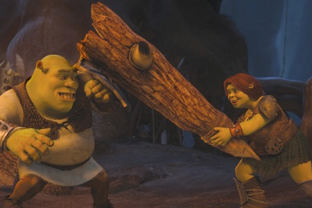 Shrek stars Mike Myers and Cameron Diaz go at it