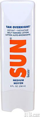 SUN Tan Overnight Instant Self Tanning Lotion