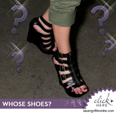 strappy shoes guess who