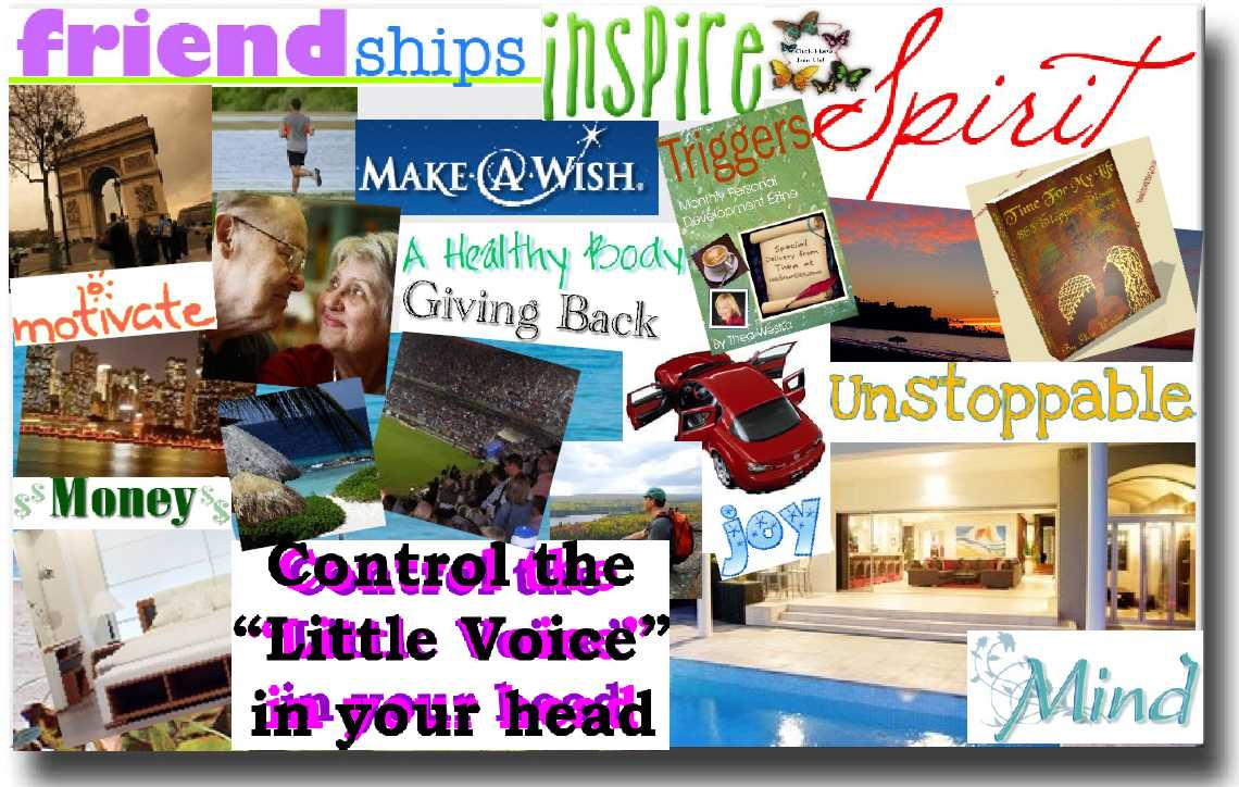 Using a vision board for school