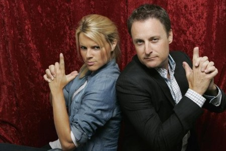 Bachelorette Ali and host Chris Harrison