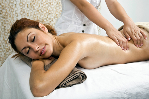 Career Mom having massage