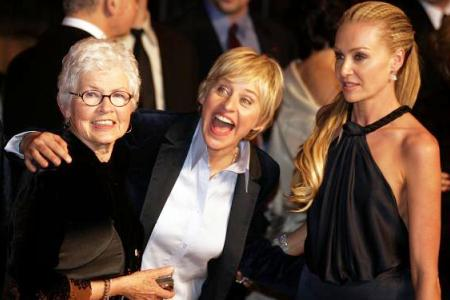 Ellen's mom and wife, Portia De Rossi