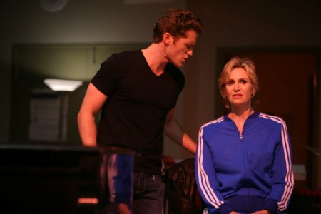 Jane Lynch and Matthew Morrison in Glee finale