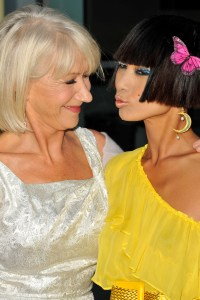 Helen Mirren and Bai Ling at the Love Ranch premiere