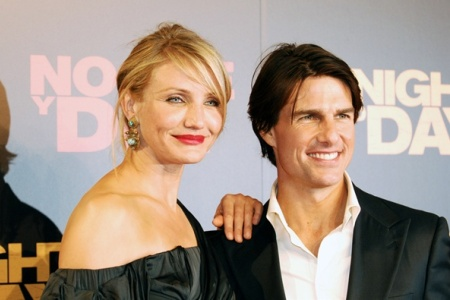 Cameron Diaz and Tom Cruise on the Knight and Day red carpet