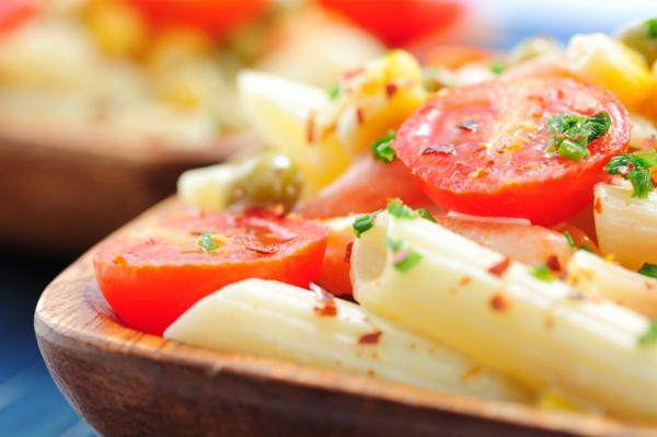 Pasta salad hold the mayo