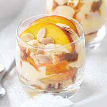 Peach almond trifle