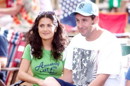 salma hayek grown ups black dress from. salma hayek grown ups hot. Salma Hayek and Adam Sandler