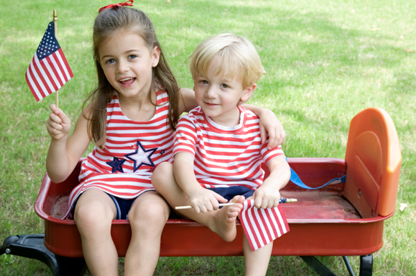 Siblings at 4th of July Party