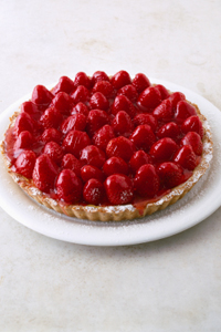 Low-Calorie Strawberry Pie