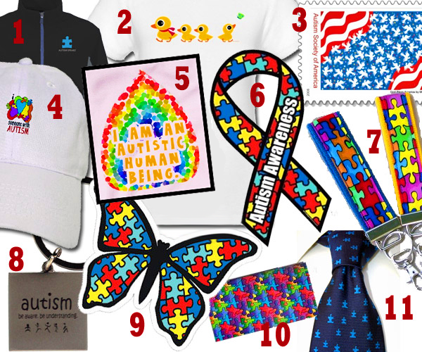 Autism awareness products and gifts