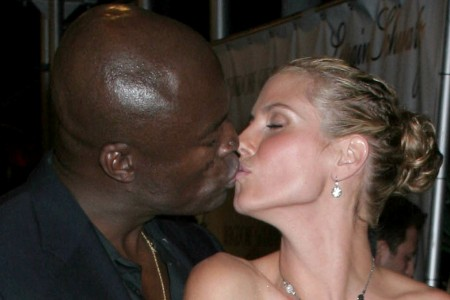 Heidi Klum and husband Seal share a moment