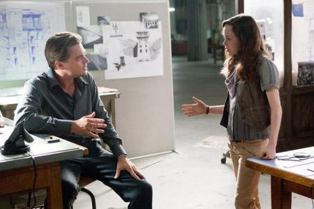 Leonardo DiCaprio and Ellen Page in Inception