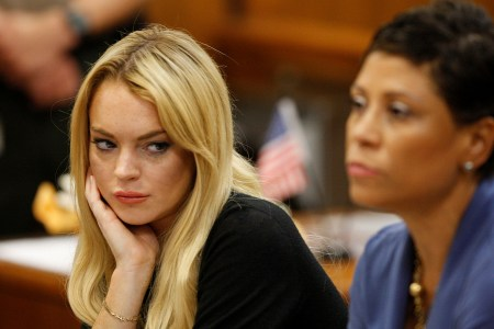 Lindsay Lohan in court July 6